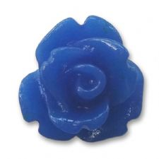 10mm Electric Blue Small Resin Rose Buds